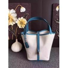Hermes Picotin Lock Canvas Blue