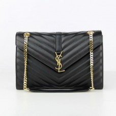 YSL Saint Laurent Classic Large Monogram Bag Black 31cm