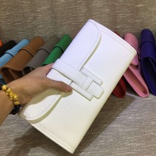 Hermes Epsom Leather Jige Clutch 29cm White