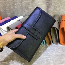 Hermes Epsom Leather Jige Clutch 29cm Black