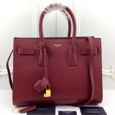 YSL Wine Downtown Tote Cow Leather Bags