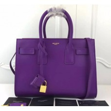YSL Purple Downtown Tote Cow Leather Bags