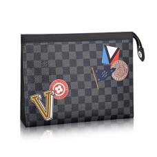 Louis Vuitton Pochette Voyage MM N64442 Damier Graphite Canvas