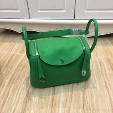 Hermes Lindy 30cm Handbag Green Silver