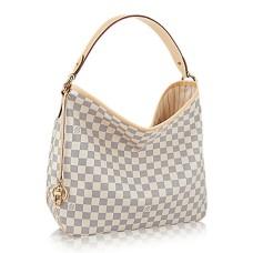 Louis Vuitton N41464 Delightful MM Hobo Bag Damier Azur Canvas