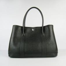 Hermes Garden Party Handbag Large 36cm Black