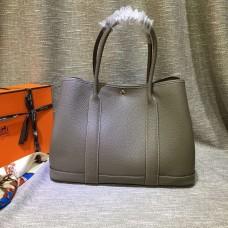 Hermes Garden Party Handbag Large 36cm Grey
