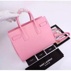 YSL Pink Downtown Tote Cow Leather Bags