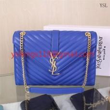 YSL Saint Laurent Classic Large Monogram Bag Blue 31cm
