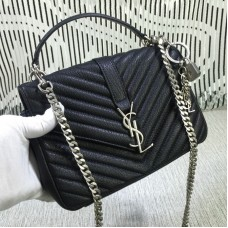 Saint Laurent Top Handle Chain Bag Black