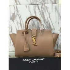 YSL Downtown Cabas Tote 30cm Apricot
