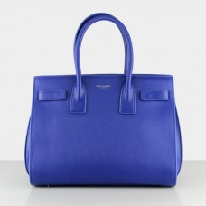 YSL Blue Downtown Tote Cow Leather Bags 2035