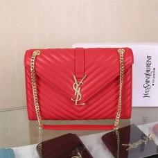 YSL Saint Laurent Classic Large Monogram Bag Red 31cm