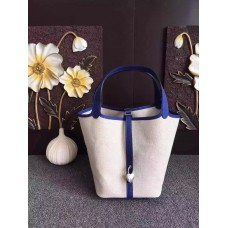 Hermes Picotin Lock Canvas Electric Blue