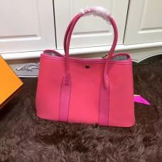 Hermes Garden Party 36cm Canvas Handbag Hot Pink