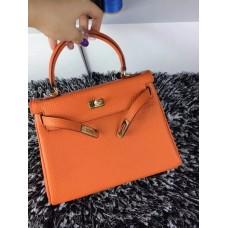 Hermes Kelly 25cm Togo Leather Orange Gold