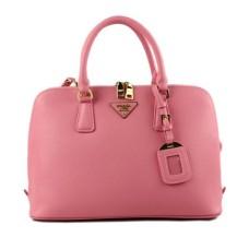 Prada 0812 pink cross pattern tote bag