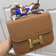 Hermes Constance Bag 23cm Epsom Leather Camel Gold