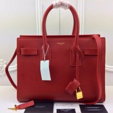 YSL Red Downtown Tote Cow Leather Bags