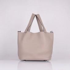 Hermes Calf Leather 8616 Handbag Gray