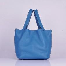 Hermes Calf Leather 8616 Handbag Blue