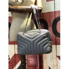YSL Chain Handbag 27cm Grey
