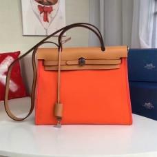 Hermes Herbag 31cm Orange Canvas Bag