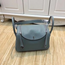 Hermes Lindy 30cm Handbag Grey Blue Silver