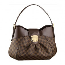 Louis Vuitton N41541 Sistina MM Hobo Bag Damier Ebene Canvas
