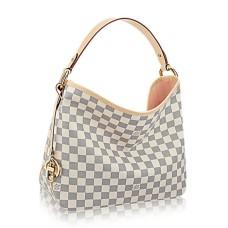 Louis Vuitton N41606 Delightful PM Hobo Bag Damier Azur Canvas