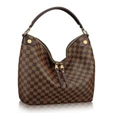 Louis Vuitton N41861 Duomo Hobo Bag Damier Ebene Canvas