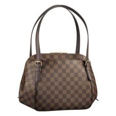 Louis Vuitton N51174 Belem MM Hobo Bag Damier Ebene Canvas